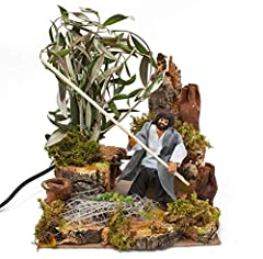 Idea Regalo - Pastore per Presepe in Movimento 17 cm x 17 cm Il Raccoglitore di Olive