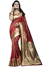 Maahik Women's Banarasi Cotton Silk Saree