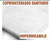 COPRIMATERASSO SANITARIO IMPERMEABILE MATRIMONIALE CON ANGOLI 100% COTONE E863