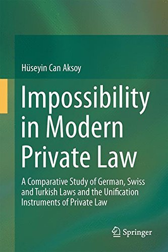 Impossibility in Modern Private Law: A Comparative Study of German, Swiss and Turkish Laws and the Unification Instruments of Private Law by H??seyin Can Aksoy (2013-11-26)