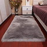 FOONEE Luxuriöser Plüsch-Teppich Aus Kunstfell, Flauschig, Kunstfell, für Nachttisch, Fußmatte, Sofa, Wohnzimmer, Schlafzimmer