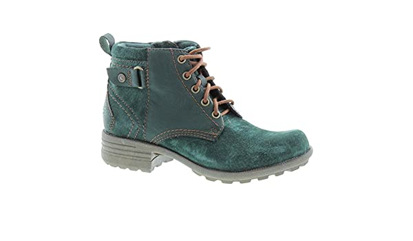 Pasadena Lace Ankle Boots in Green