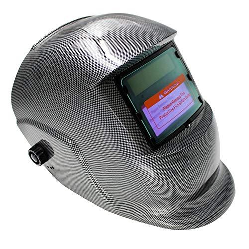 MDYHJDHYQ Schweißhelm Sicherheit Solarbetriebener Auto-Verdunkelungs-Schweißhelm mit 2 optischen Sensoren Professionelle Schweißband-Schweißmasken-Aufkleber Schweißhelme