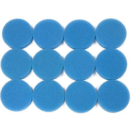 LTWHOME Compatible Grossière Bleu Mousse Médias Filter Pads Appropriés Convient pour Eheim Classic 2213/250 2616131(Pack de 12)