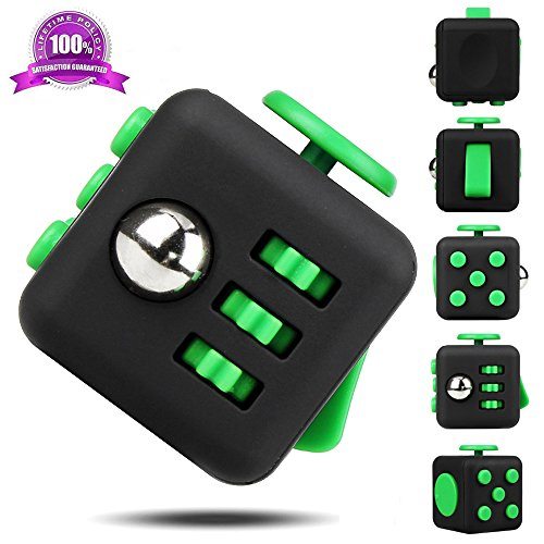 EpochAir Fidget Cube Relieves Stress And Anxiety for Children and Adults Anxiety Attention Toy (Green)