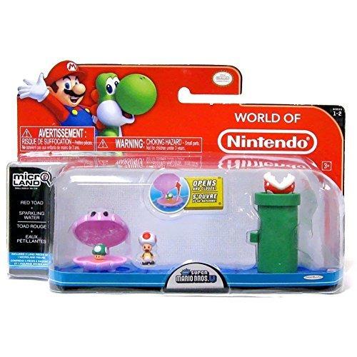 Mario Bros U Micro Land W2-Wasser+Red Toad (Mario Bros Toad)