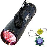 HQRP Profesional Linterna 9 LED con luz roja Antorcha lámpara para caza, astronomía, navegación más HQRP Medidor del sol