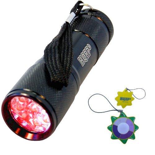 HQRP 9 LED Taschenlampe Rotlicht Professional 650 nm für Nachtnavigation / Nachtwanderung / Jagen mit HQRP Sonnenlichtmesser