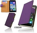 Premium Book Case Handytasche für Nokia Lumia 625 Schutzhülle Etui Wallet Cover Handyhülle Hülle Tasche mit Kartenfach und Magnetverschluss in Violett