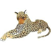 BRUBAKER Leopardo di peluche - 110 cm colore marrone