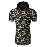 Malloom Chemise Décontractée Camouflage pour Hommes O Neck Pullover Manches Courtes T-Shirt Blouse