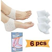 Heel Cups, Plantar Fascite Inserts, Gel Heel Pads Cushion (3 Paia) Grande per il Dolore al Tallone, Heal Dry Heels…