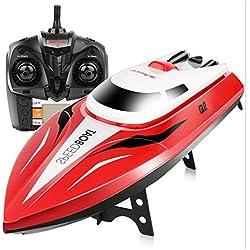 Togather Syma Q2 RC Barcos Velocidad Barco Juguetes Eléctricos Modelos Naves Vela Juguetes (Rojo)
