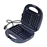 ROSSMANN 3 in 1 Snack Maker (Sandwich/Waffle/Grill) and Open Grill (Black/Silver)