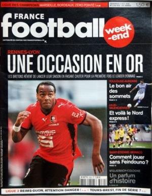 france-football-du-03-10-2008-renes-et-lyon-une-occasion-en-or-toulouse-et-auxerre-le-bon-air-des-so