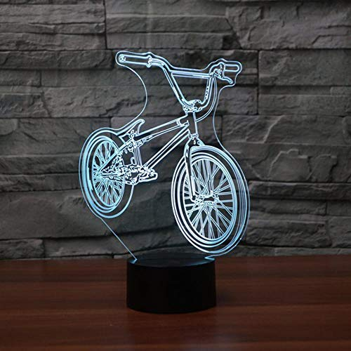 Mountain Bike Led 3D Night Light Colorful Atmosphere Remote Control Vision Stereo Lamp Acrylic 3D Lamp As Great Gift