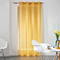 Polyester 140 x 240 cm Douceur d Int/érieur Sally Panel Hat /Ösen gelb