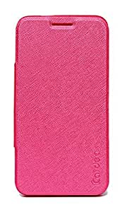 ECellStreet Exclusive Textured Premium Flip Cover Diary Folio Case Cover For Lenovo A7000 A 7000 / Lenovo K3 Note - Pink