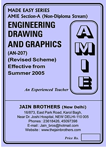 Engineering Drawing & Graphics AN-207 Solved Paper