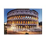Decoración de viaje Coliseo Romano Paisaje Nocturno Alfombras de Baño Antideslizante Felpudo Pisos de Entrada Alfombra de Puerta de Entrada de Interior Para Niños Alfombra de Baño 60X40 CM Accesorios de Baño