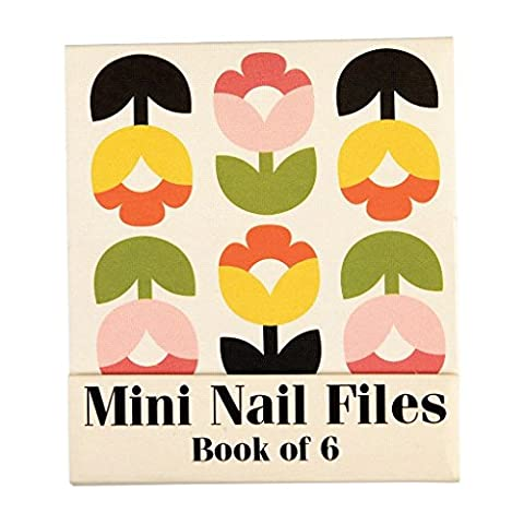 Set Of 6 Tulip Bloom Matchbook Mini Nail