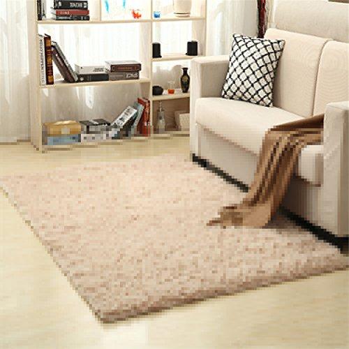 Ommda tappeti salotto pelo lungo moderni quadrati tappeti lavabili in lavatrice salotto cammello leggero 200x300cm