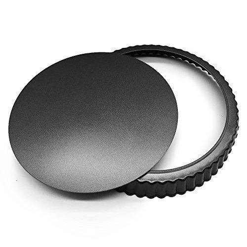 homow 30,5cm Aluminiumguss Tart, mit abnehmbarem Boden, abnehmbarer lose unten Quiche Pfanne, Pie Pfanne nst12-01