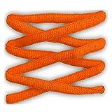 Lacci per calzature sportive, ovali, elevata qualità, 125 cm (arancione fluorescente)