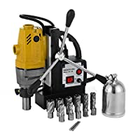 """Techlifer MD40 Magnetic Drill with 6pcs Drill Cutters Bit 1"""" Magnetic Drilling Machine 2700LBS 12000N HSS Annular Drill Bits (MD40 with 6pcs Drill bits)"""