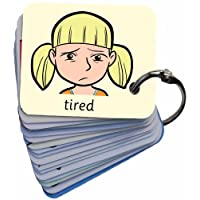 BSL for Kids Feelings & Emotions 101 Lucy Picture Exchange Communication Keyring (Autism / AAC / ASD) Visual Aid Resource