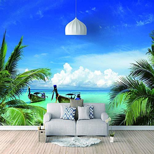 Benutzerdefinierte Tapete Wandbild Für Schlafzimmer Wände Modernen Regenbogen Blauer Himmel, Meer, Hawaii-Stil 3D Tapeten Cricket-stil