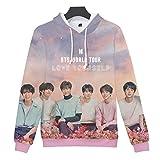 SIMYJOY BTS Fans 3D Impreso Sudaderas con Capucha Love Yourself Tear  Impresión 3D Chaqueta Cool KPOP 8e34884accf