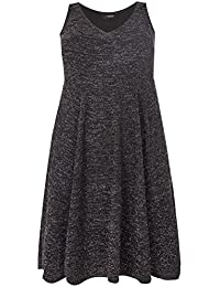 14533a09b5 Yours Clothing Women s Plus Size Sparkle Skater Dress