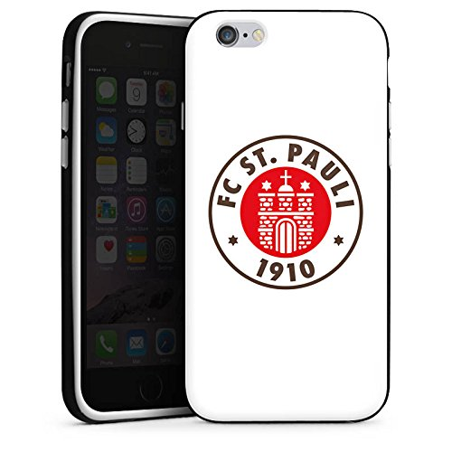 Apple iPhone 7 Hülle Case Handyhülle FC St. Pauli Fanartikel Fußball Silikon Case schwarz / weiß