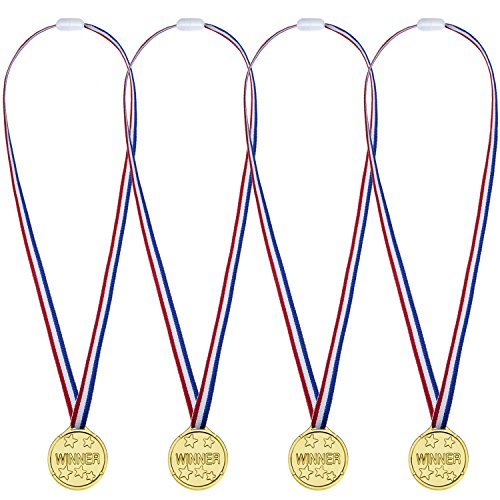 12 Packung Party Kinder Kunststoff Gold Gewinner Medaillen Golden Awards