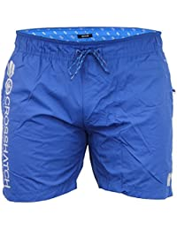 Hommes Doublure Maille Surf Natation Short Crosshatch - Royal - JENNIS, X-Large