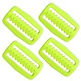 Scuba Wahl Tauchen Kunststoff Gewicht Gürtel Gurtband Keeper Halterung (4) Pack Set, gelb