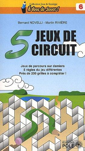 5 jeux de circuit - Jeux de parcours sur damiers. 5 règles du jeu différentes. Près de 200 grilles à compléter.