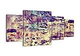 Impression sur toile - 4 Parties - 160x90cm - Image sur toile - 3598 - plusieurs éléments - prete a suspendre - encadrée - Tableaux pour la mur - motif moderne - pret a accrocher - DL160x90-3598