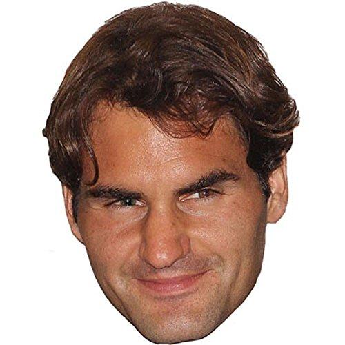 Celebrity Cutouts Roger Federer Maske aus Karton