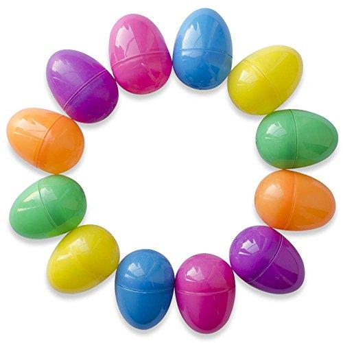 12x Farbige leer Kunststoff Eier Ostern Hunt Geschenk Dekoration Zubehör