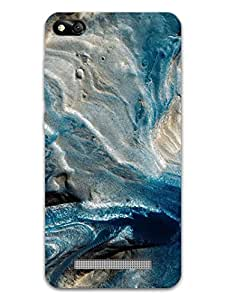 MADANYU Classy Blue Marble Texture Designer Printed Hard Back Shell Case For RedMi 4A/ Mi 4A