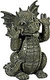 Statue de jardin dragon grimaçant