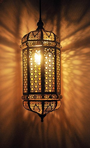 Logam Black & Gold Moroccan Marrakesh Pendant Lamp