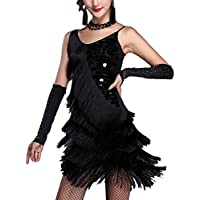 Zhhlaixing Sexy latino Dance Dress Tango Sequins Tassel Competition Dress