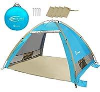 Das Pop Up Beach Zelt von ZOMAKE ist ein einfach zu montierendes Zelt für den Strand, den Park oder sogar einen warmen Wettercamp. Es öffnet sich automatisch und öffnet sich in 1 Sekunde und klappt in nur 3 Sekunden wieder herunter. Das schwer entfla...