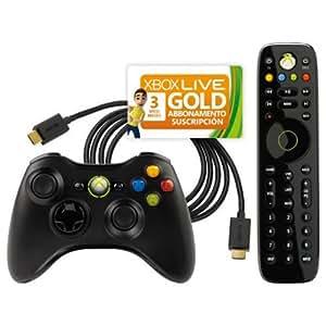 Pack essentials : manette sans fil + télécommande  + Carte Xbox Live 3 mois