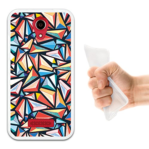 WoowCase Doogee X3 Hülle, Handyhülle Silikon für [ Doogee X3 ] Bunte Dreiecke Handytasche Handy Cover Case Schutzhülle Flexible TPU - Transparent