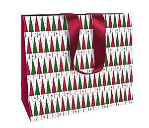 """Clairefontaine 35x 10x 27,5cm Acacia """"Alberi di Natale Rosso e Verde Stile Tradizionale Shopping Borsa Regalo"""