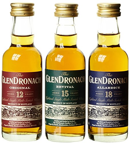 Glendronach Miniature Giftpack Whisky mit Geschenkverpackung (1 x 0.15 l)